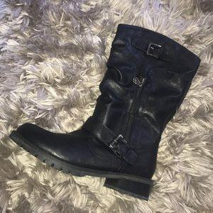 G by Guess Yelena Mid Calf Black Boot
